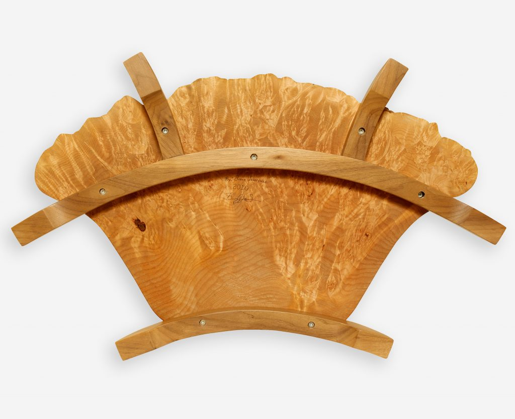 Maple Burl and Walnut Serving Platter