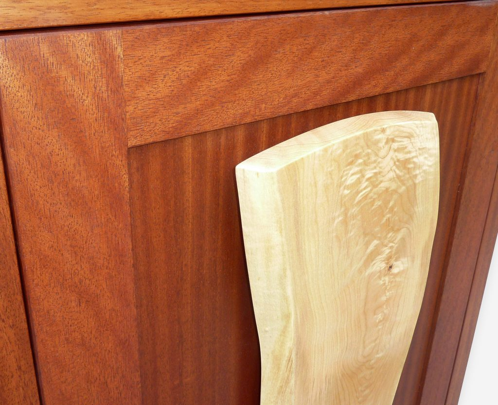 Recycled Mahogany and Maple Armoire