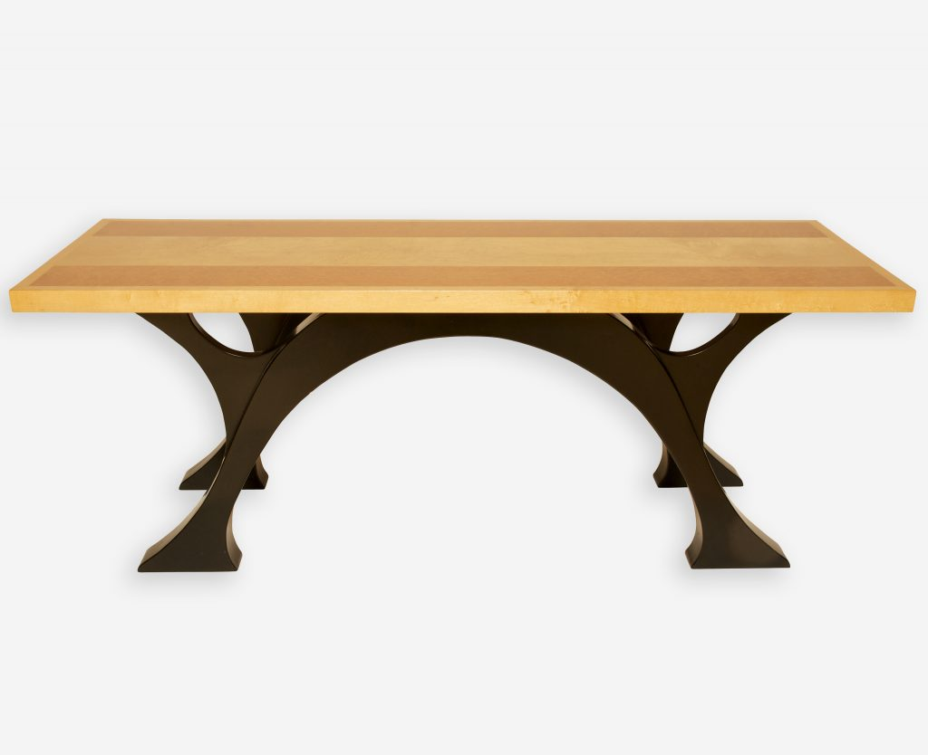 Lacewood and Birdseye Maple Coffee Table