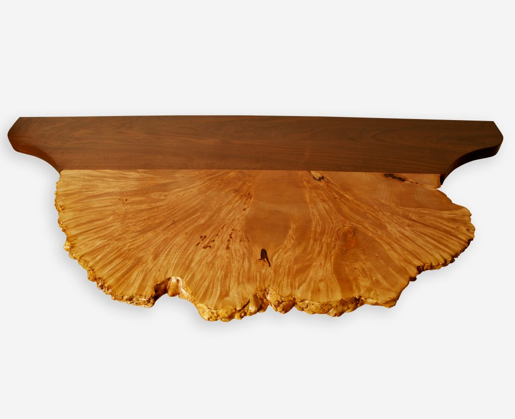 Maple Burl and Black Walnut Table